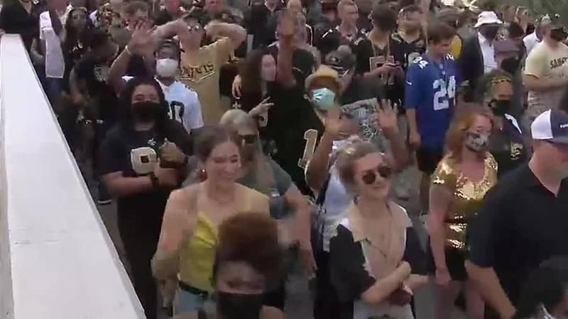 Fans after the Saints devastating loss