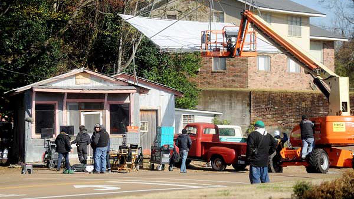 The filming of 'Get on Up' (Source: The Natchez Democrat)