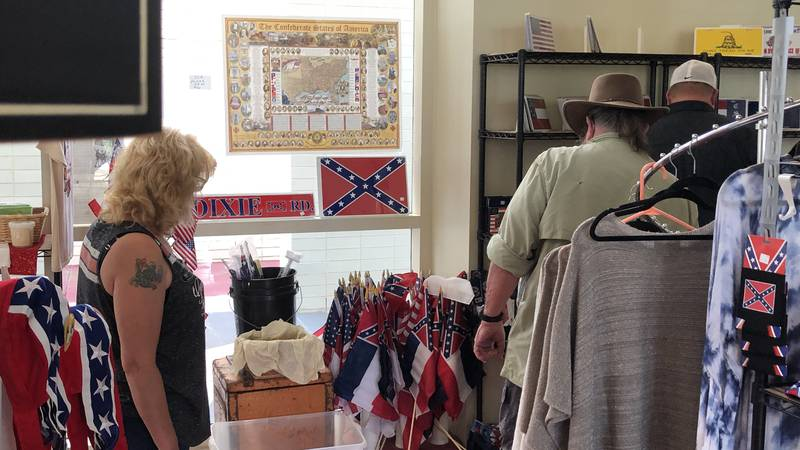 flag sales spike at Beauvoir