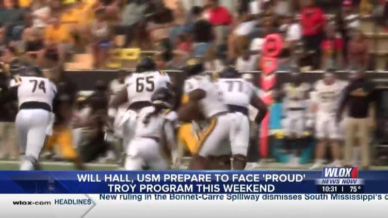 Will Hall, Southern Miss prepare to face 'proud' Troy program
