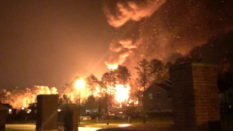 Viewer submitted pictures of a reported tanker explosion on I-12 East near Satsuma on Fri.,...