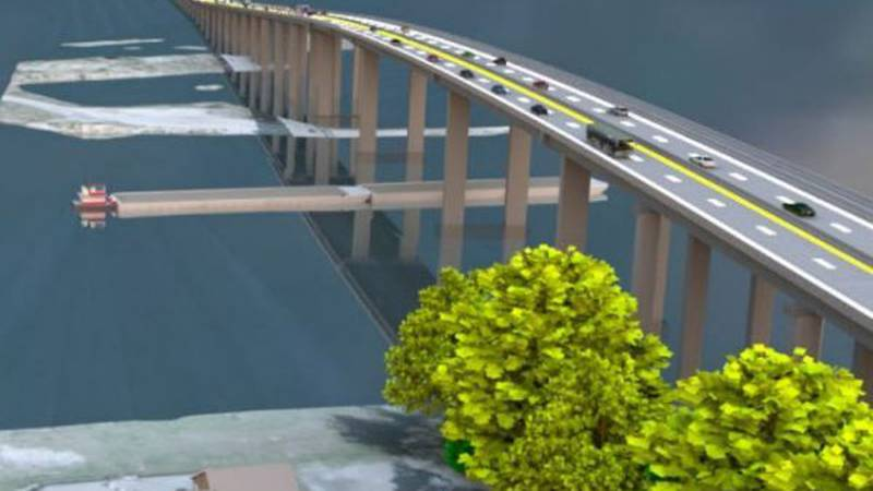 A drawing of Biloxi's plan to replace the 40-year-old Popps Ferry drawbridge. (Photo Source:...