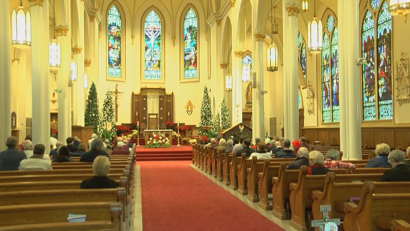Dozens of faithful parishioners filled Nativity of the Blessed Virgin Mary Cathedral Christmas...