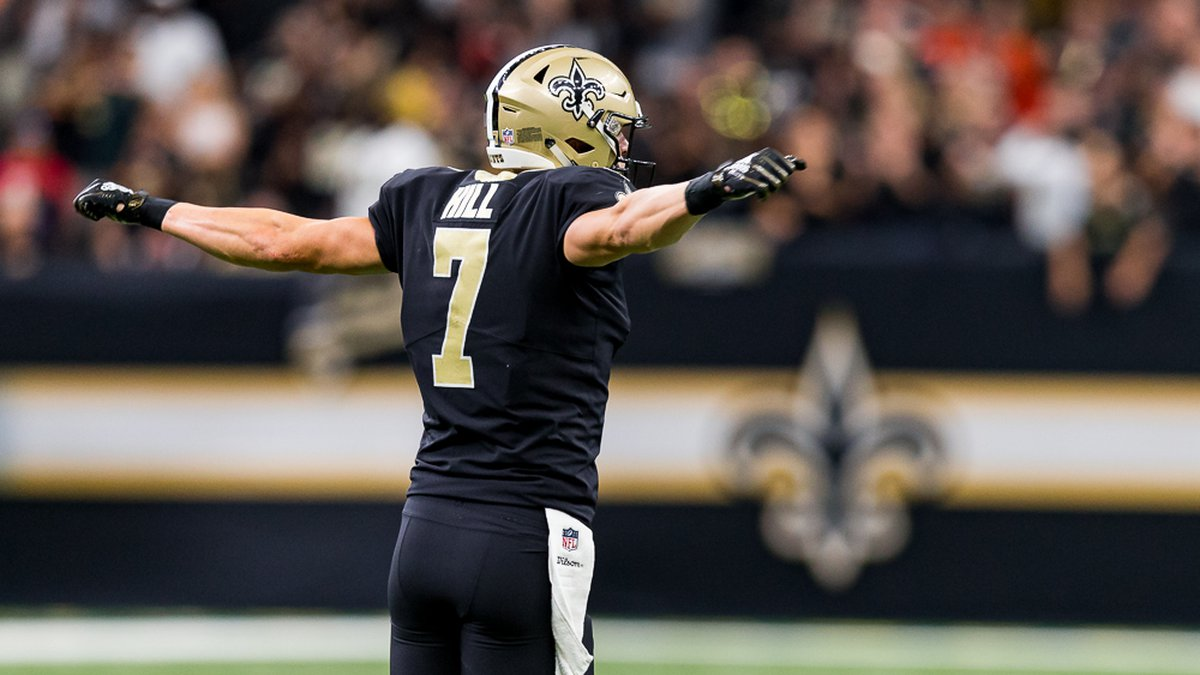 Taysom Hill scored two touchdowns for the Saints. (Source: WVUE)