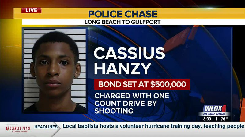 Cassius Vaughn Hanzy was initially arrested by Gulfport police on a charge of drive-by...