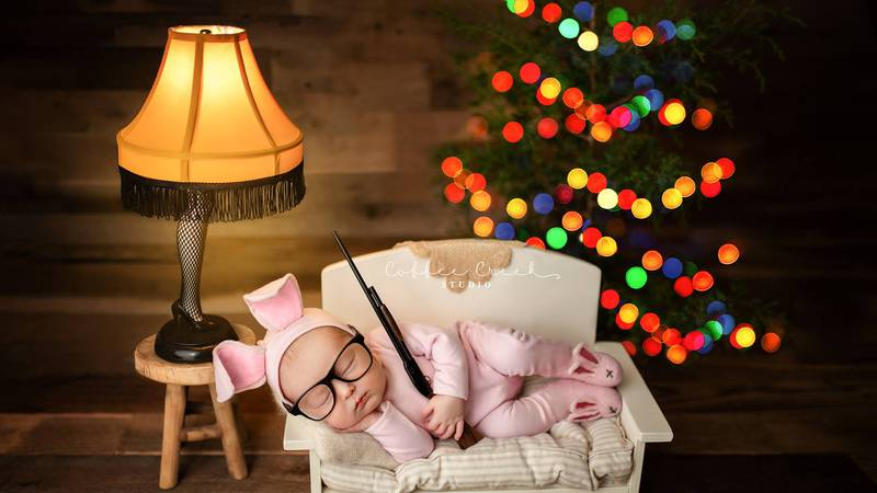"""A photographer shared a seemingly innocent photo from a newborn shoot with the theme of """"A..."""