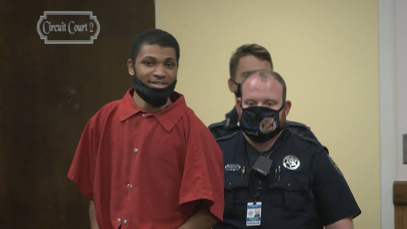 Darian Atkinson was back in court on Tuesday for a hearing on constitutional motions.