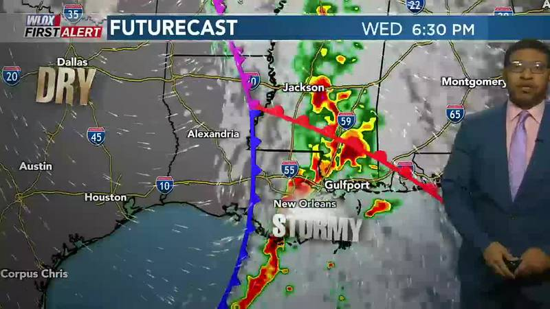 It's a cool & quiet start to Wednesday. Thunderstorms, some strong to severe, will likely...