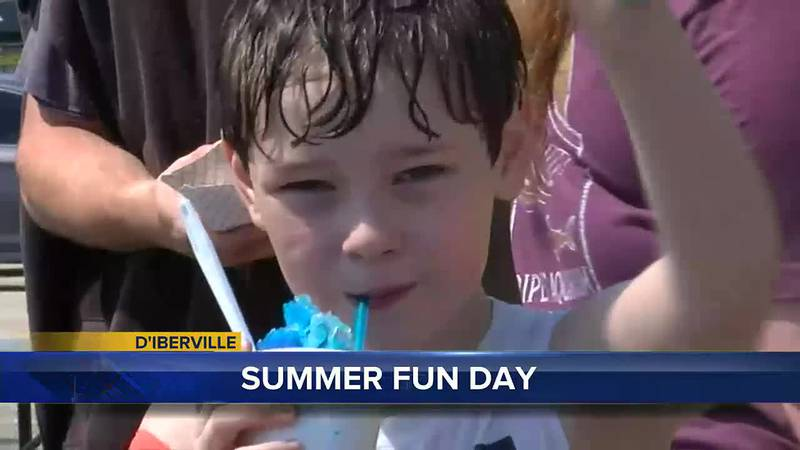 A group of kids in D'Iberville were all smiles Friday as they splashed around at The...