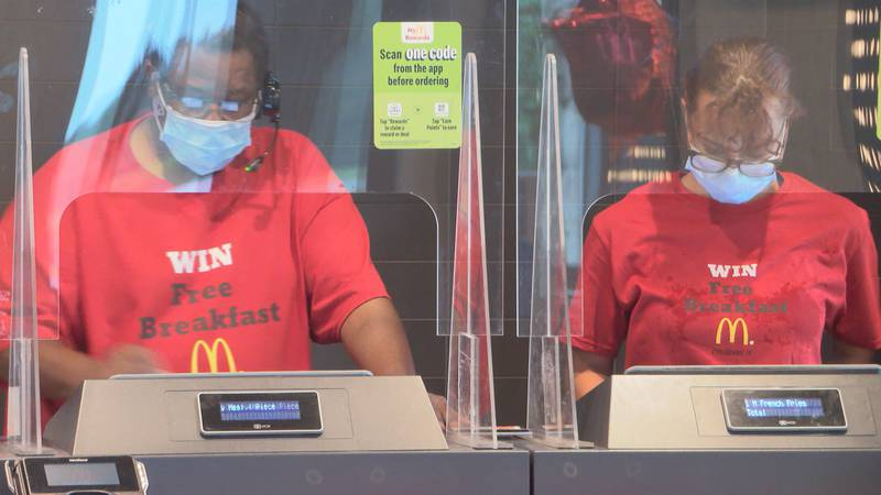 At McDonald's in Gautier, a customer can either fill out a referral card inside the restaurant...