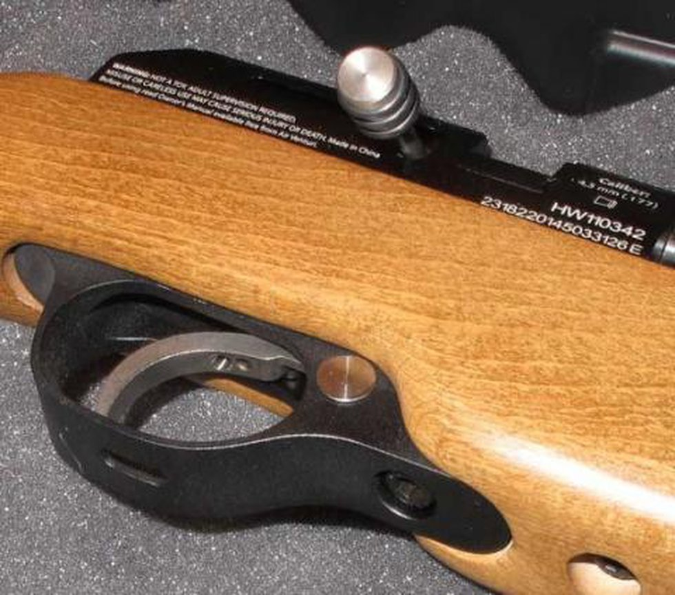 Gen 2 trigger with hole in the trigger guard for adjustment of screws