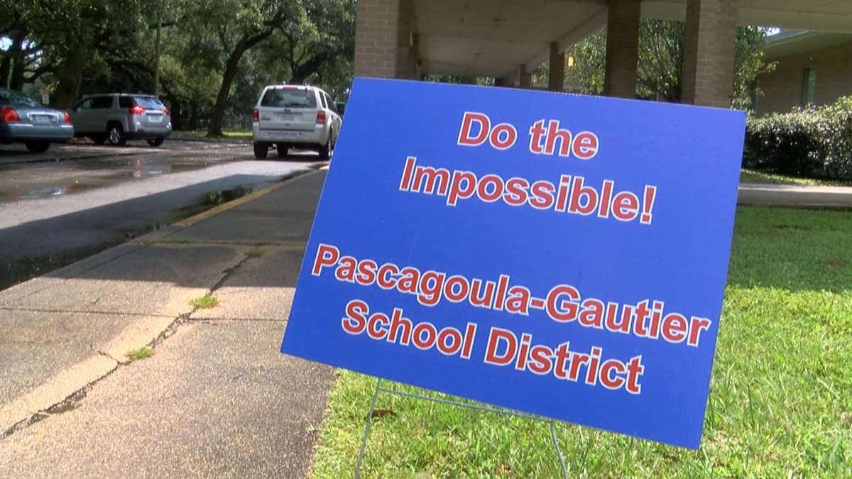 """""""Do the Impossible!"""" sign out front of Arlington Elementary in the Pascagoula-Gautier School..."""