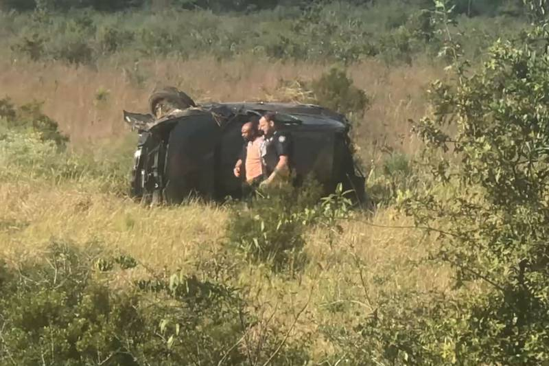 Video obtained by WLOX shows Rodney Lusk being pulled from the vehicle by two deputies, then...