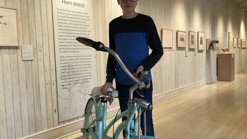 Student makes video about Walter Anderson bike rides