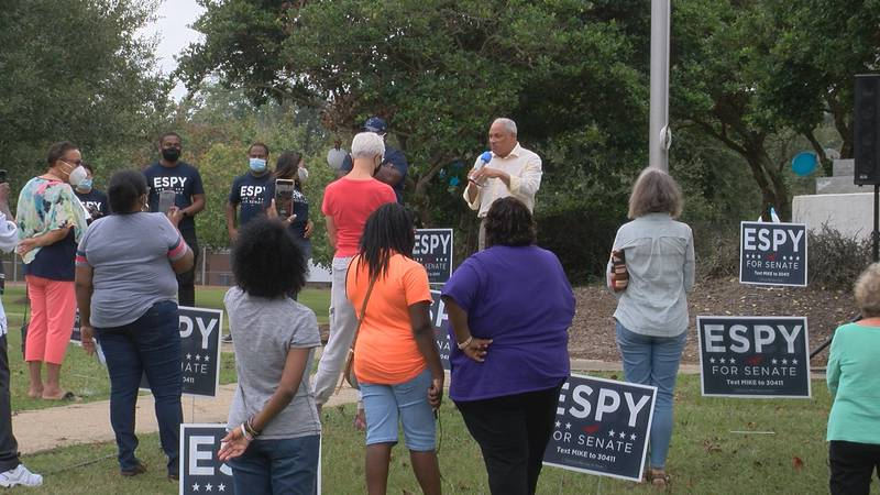 Mike Espy held meet-and-greets in Hattiesburg and Laurel on Saturday.