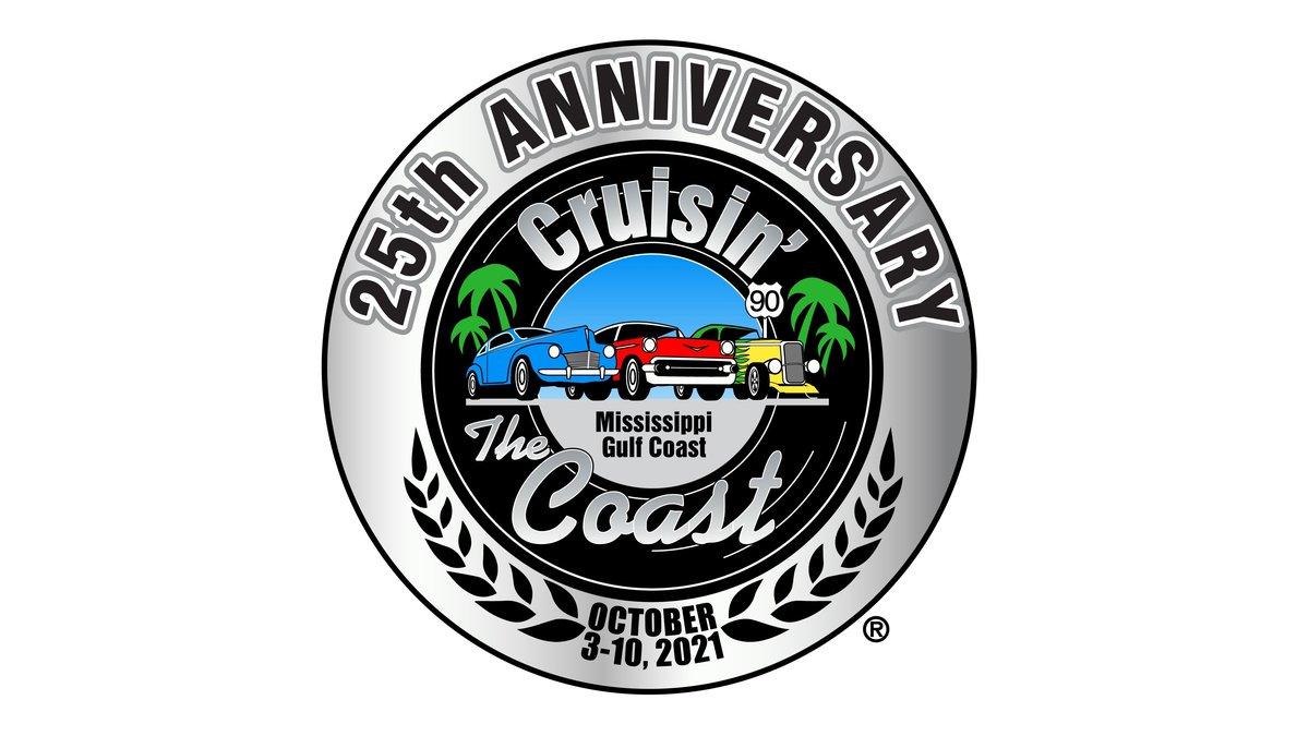 Cruisin' the Coast will celebrate its 25th Anniversary during 2021.