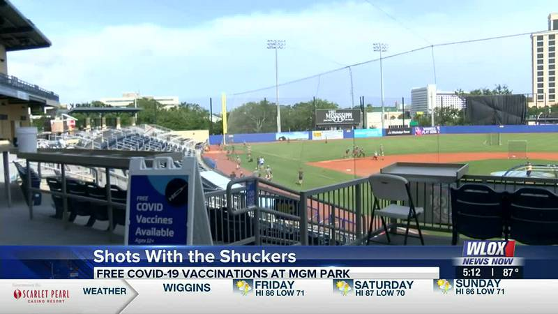 The Shuckers are teaming with the Singing River Health System to help get more shots into the...