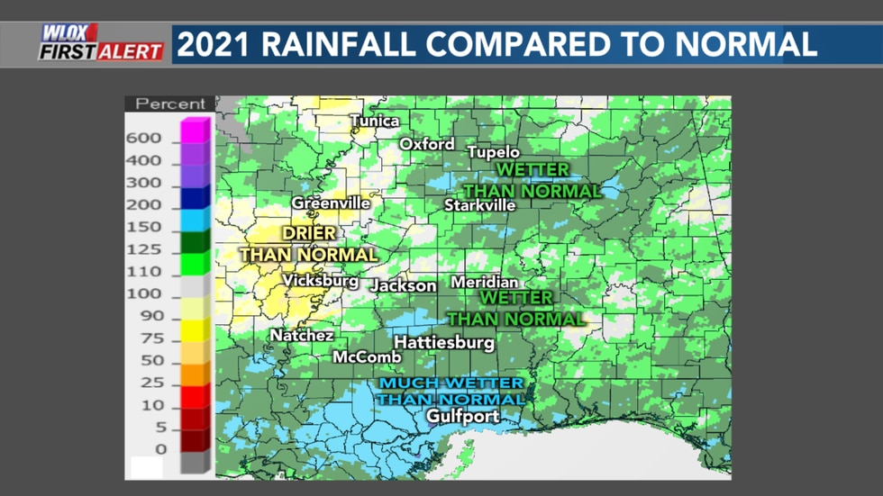 The coast has been much wetter than normal so far in 2021 when it comes to rainfall. Even...