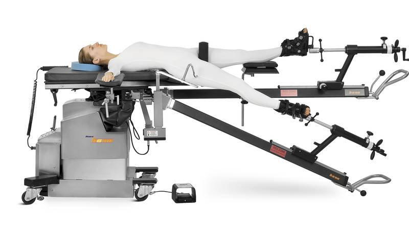 Surgical table looks more like an exercise machine