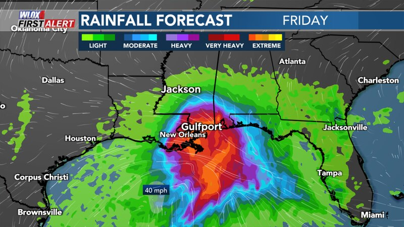 As of Friday morning, a tropical storm warning remained in effect for the South Mississippi....