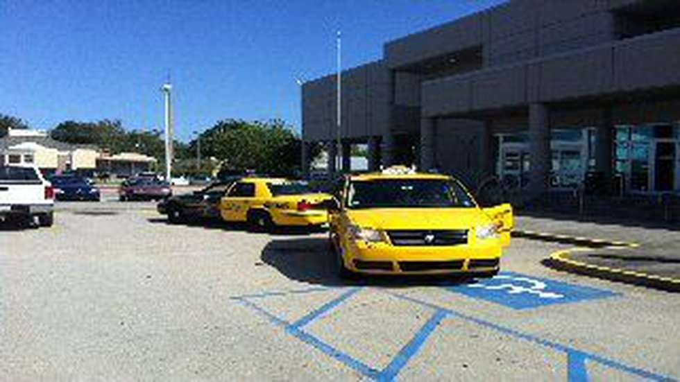 Taxi cabs are helping fight crime along the Gulf Coast.