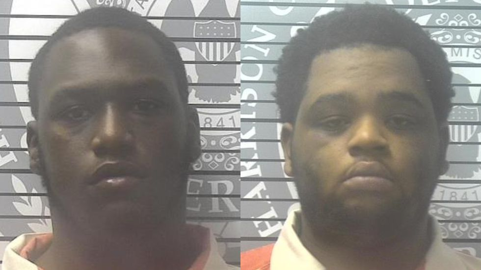 Cousins Jaylon Grayer, left, and Hollis Grayer, right, are each charged with armed robbery.