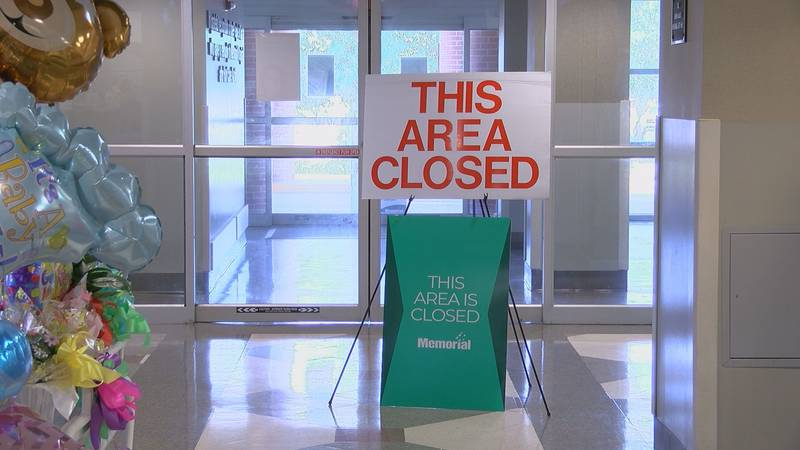 Memorial Hospital at Gulfport has closed their main entrance to limit traffic at the hospital.