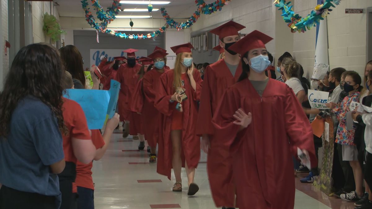 Biloxi High's Class of 2021 participated in their senior walk on Tuesday.