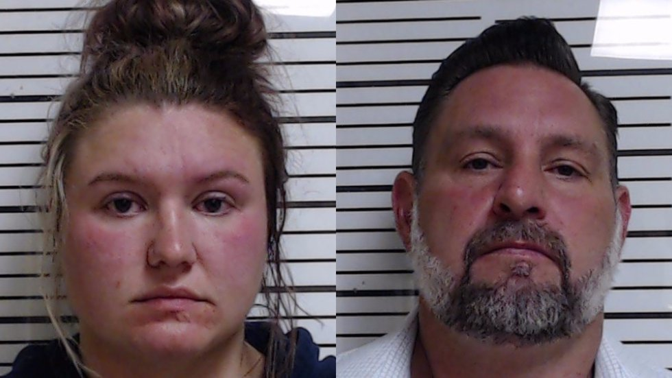 Taylor Habina, pictured left, and Jason Smith, right, are charged in connection to a fatal hit...