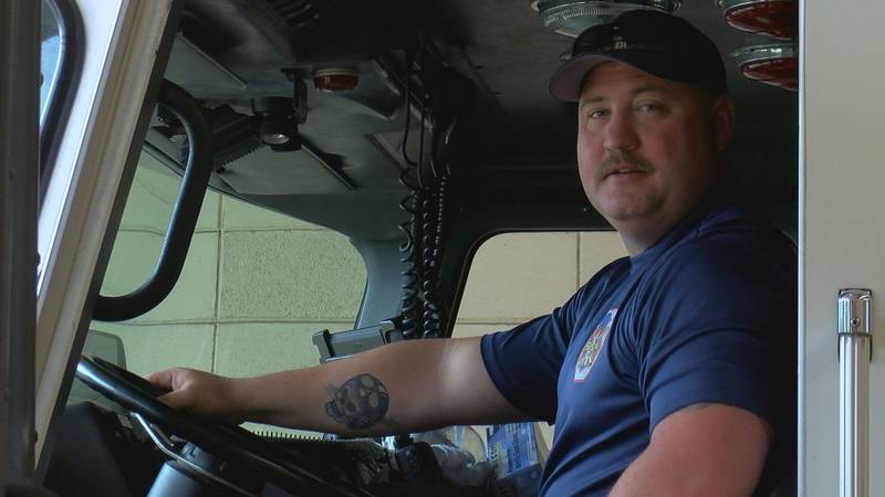 Firefighter Casey Whitehead is back on the job after recovering from COVID-19