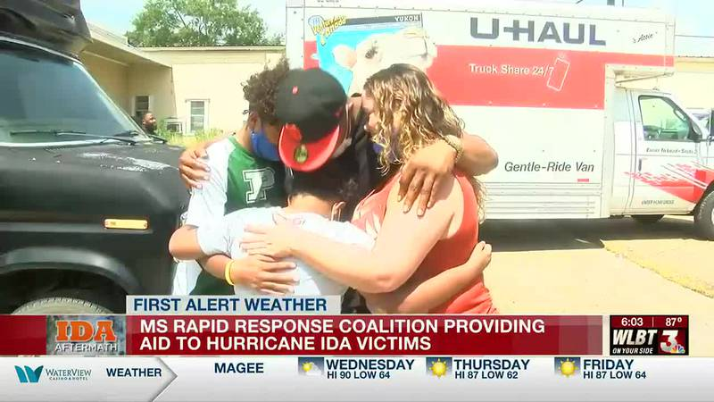 MS Rapid Response Coalition providing aid to hurricane evacuees and in impacted areas