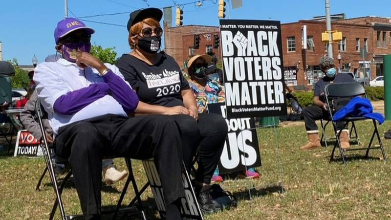 A protest was held over SB 202, an elections law that recently signed into law in Georgia.