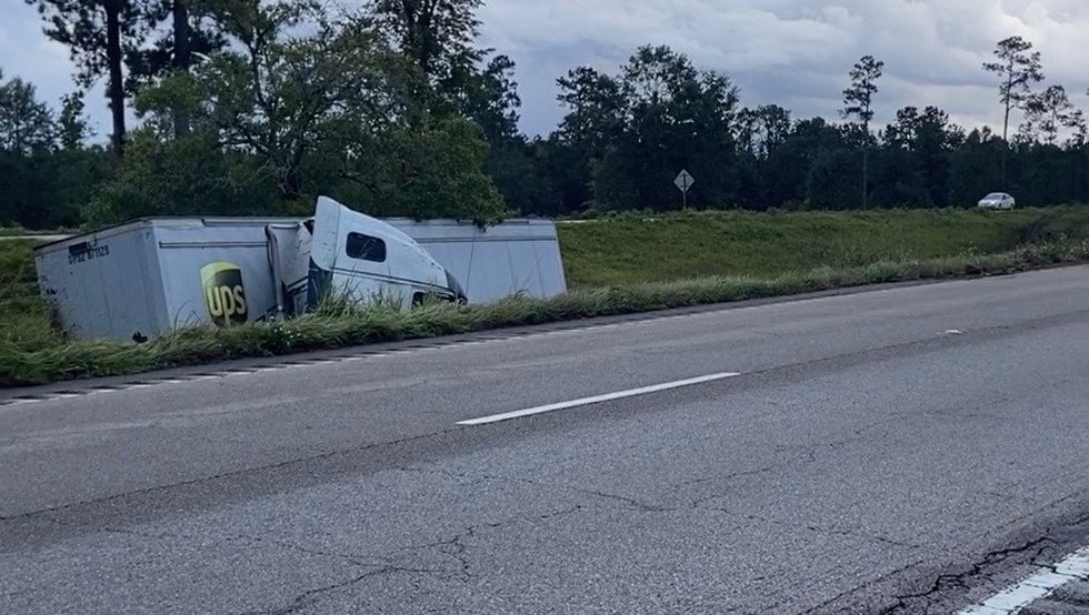 Interstate 59 South is closed near Savannah Mallard Road after a UPS truck went off the...