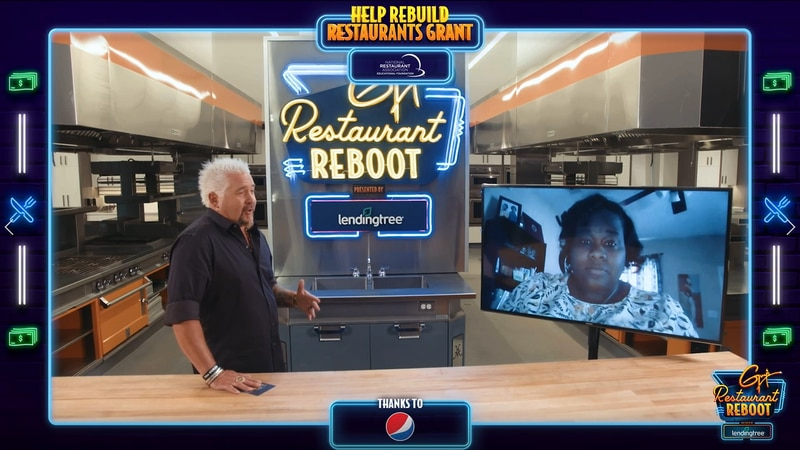 Food television personality Guy Fieri surprised Jamie Warrick, a single mother attending the...