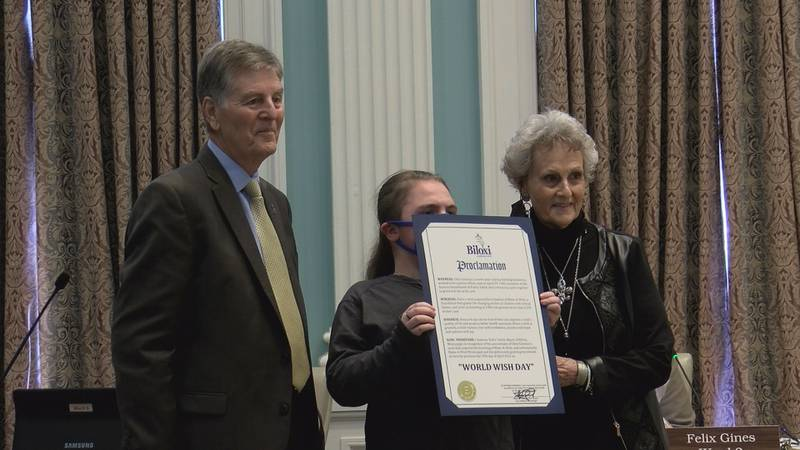 Biloxi Council makes a proclamation to Make A Wish for World Wish Day