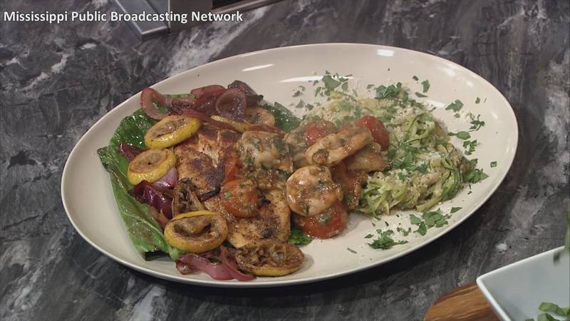 A dish Stinson created on the Fit to Eat show