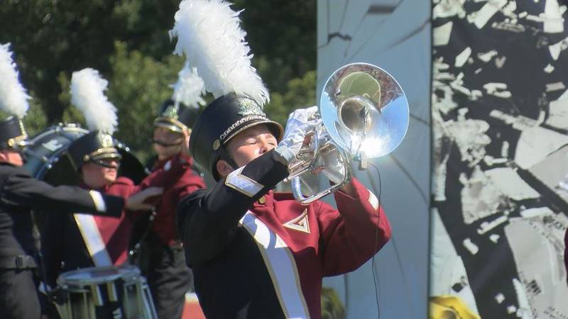 The Gulf Coast Invitational drew 14 high school marching bands from across the region to Biloxi...