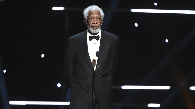 Morgan Freeman speaks on stage at the 51st NAACP Image Awards at the Pasadena Civic Auditorium...