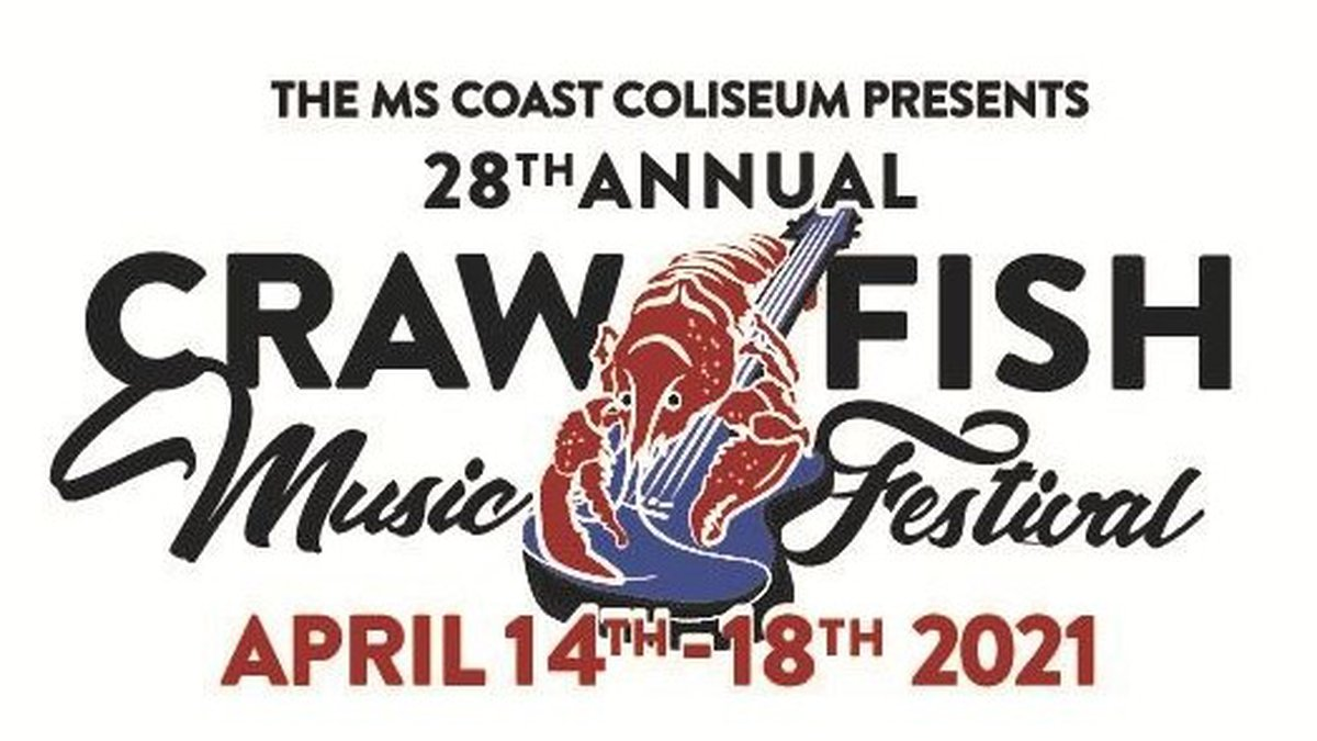 The 2021 Crawfish Music Festival will be held at the Mississippi Coast Coliseum April 14th -...