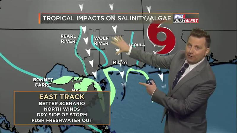 How a tropical system could impact salinity levels and blue-green algae in the Mississippi Sound