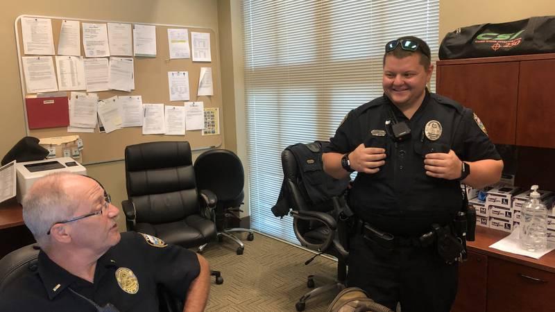 Gulfport police officer back on the job