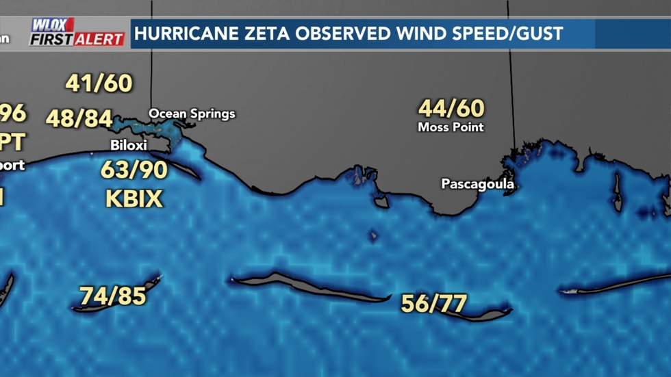 Maximum wind speed and wind gusts on October 28, 2020. While wind measurements could have been...