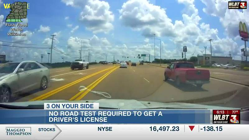 Road test no longer required to obtain new driver's license in Mississippi, agency says