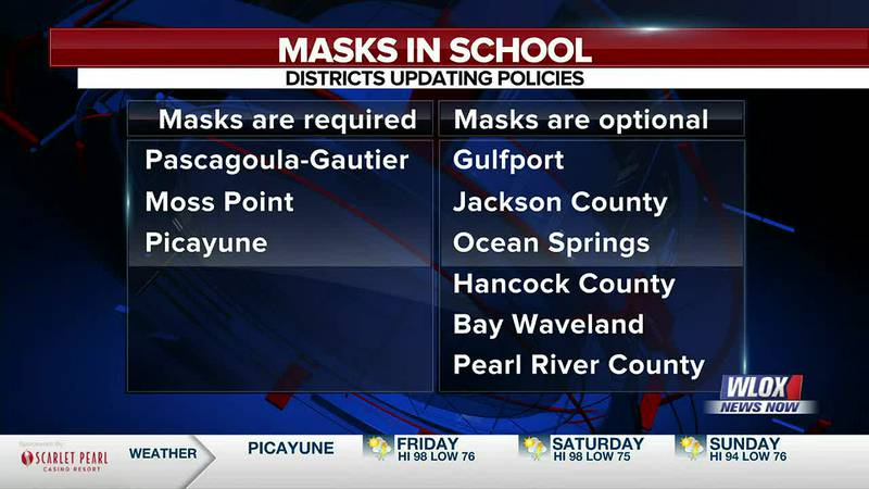 Students and employees in the Pascagoula-Gautier School District, Moss Point School District,...