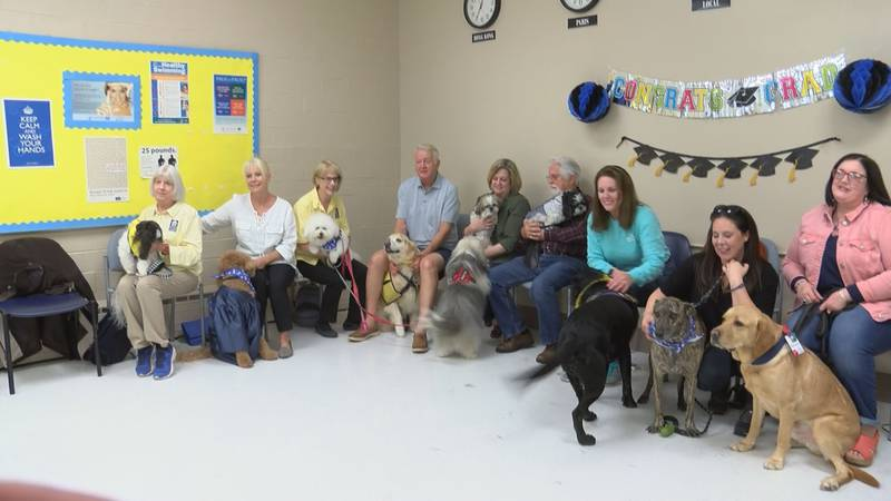 Tails were wagging non-stop for the Visiting Pet Teams of South Mississippi's graduating...