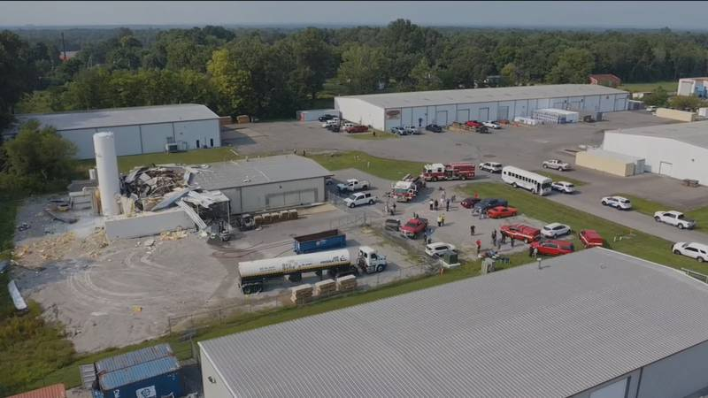 An explosion involving liquid nitrogen occurred at a building in the Dippin' Dots production...
