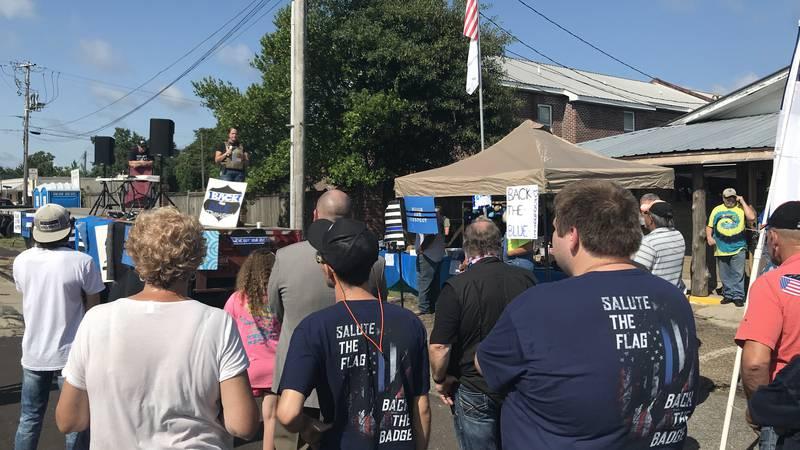 Back the Blue rally in Ellisville.