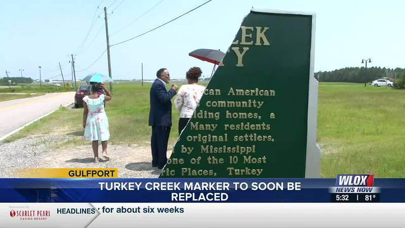 Turkey Creek residents could soon see the area's historical marker replaced -- after it was...