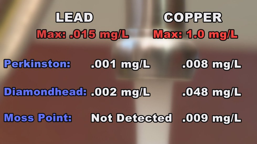 Everything tested was well below the EPA's maximum allowable level for lead and copper. (Photo...