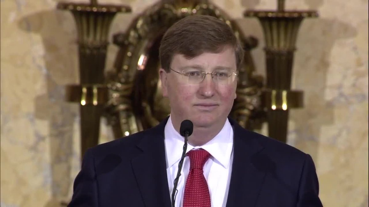 Tate Reeves was sworn in Tuesday morning as Mississippi's 65th Governor.